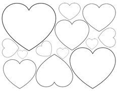 Printable heart shapes tiny small medium outlines printable printable heart shapes tiny small medium outlines pronofoot35fo Gallery