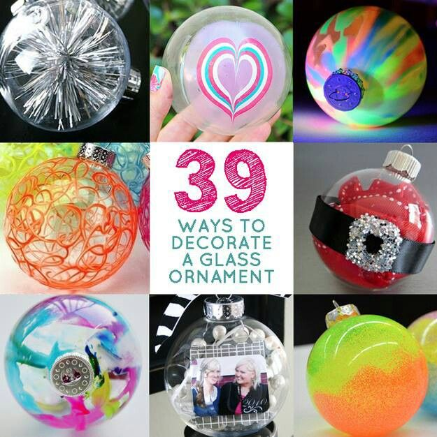 Decorating Christmas Balls Glass 39 Ways To Decorate Glass Ornaments  Gift Ideas  Pinterest