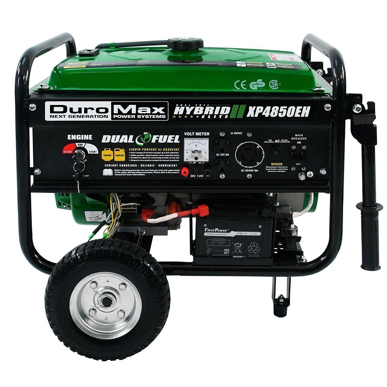 Duromax 4850W Dual Fuel Hybrid Portable Gas Generator Home RV