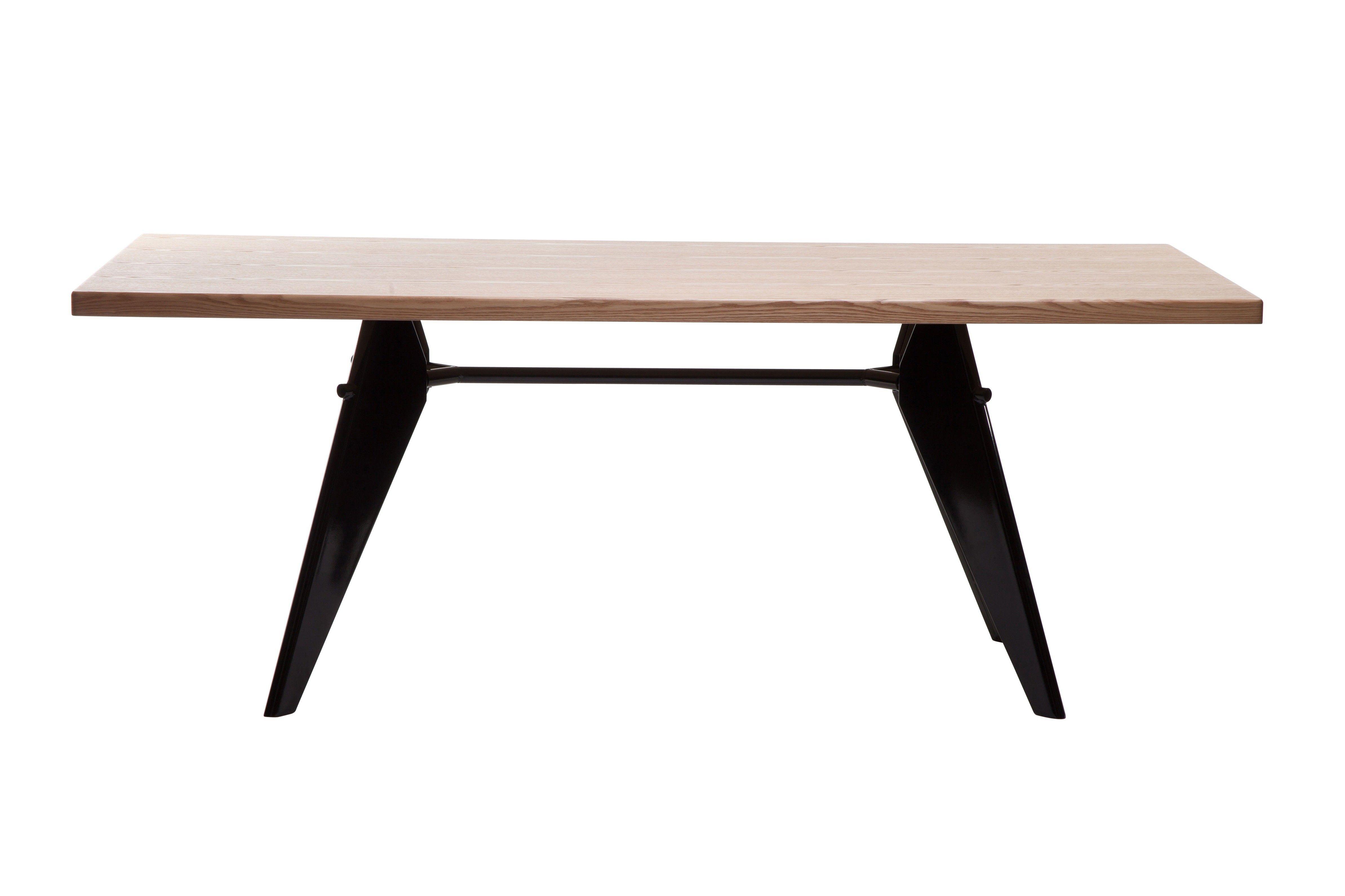 Replica Jean Prouve Em Rectangle Dining Table Oak The Em