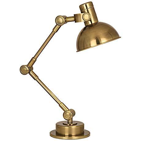 Robert Abbey Scout Antique Brass Desk Lamp 7v946 Lamps Plus Traditional Desk Lamps Desk Lamp Brass Desk Lamp