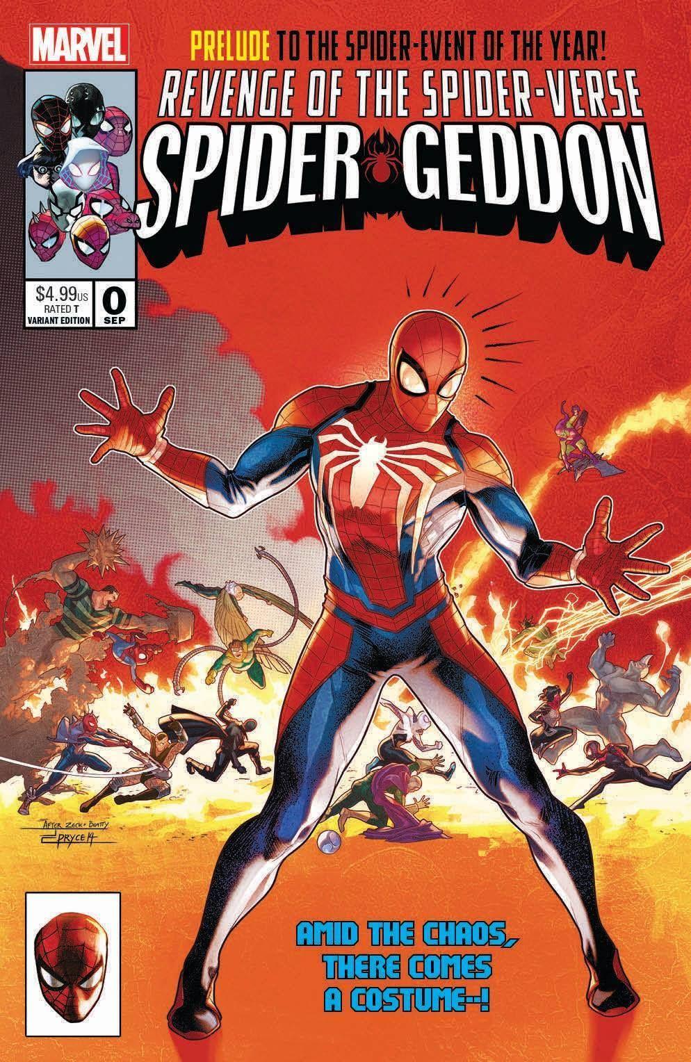 Spider-Geddon 4 2018 Main Cover In-Hyuk Lee Connecting Variant Set Marvel  NM