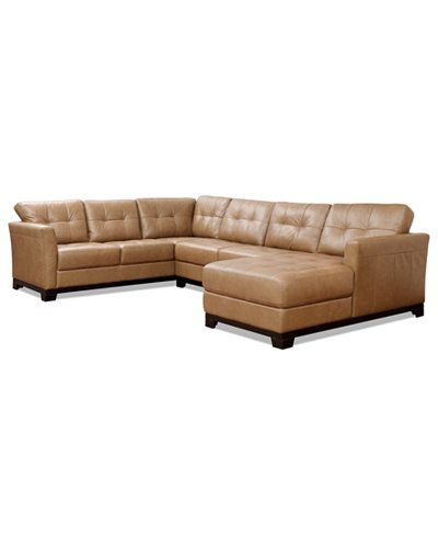 Martino Leather Sectional Sofa (Sofa and Apartment Sofa) - Couches u0026 Sofas - Furniture - Macyu0027s  sc 1 st  Pinterest : macys leather sectional - Sectionals, Sofas & Couches
