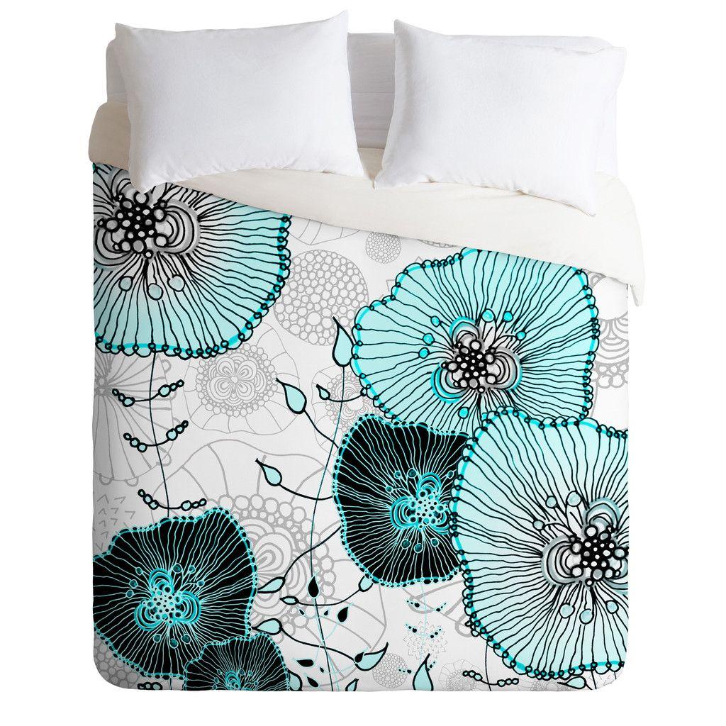 Monika Strigel Mystic Garden Mint Duvet Cover
