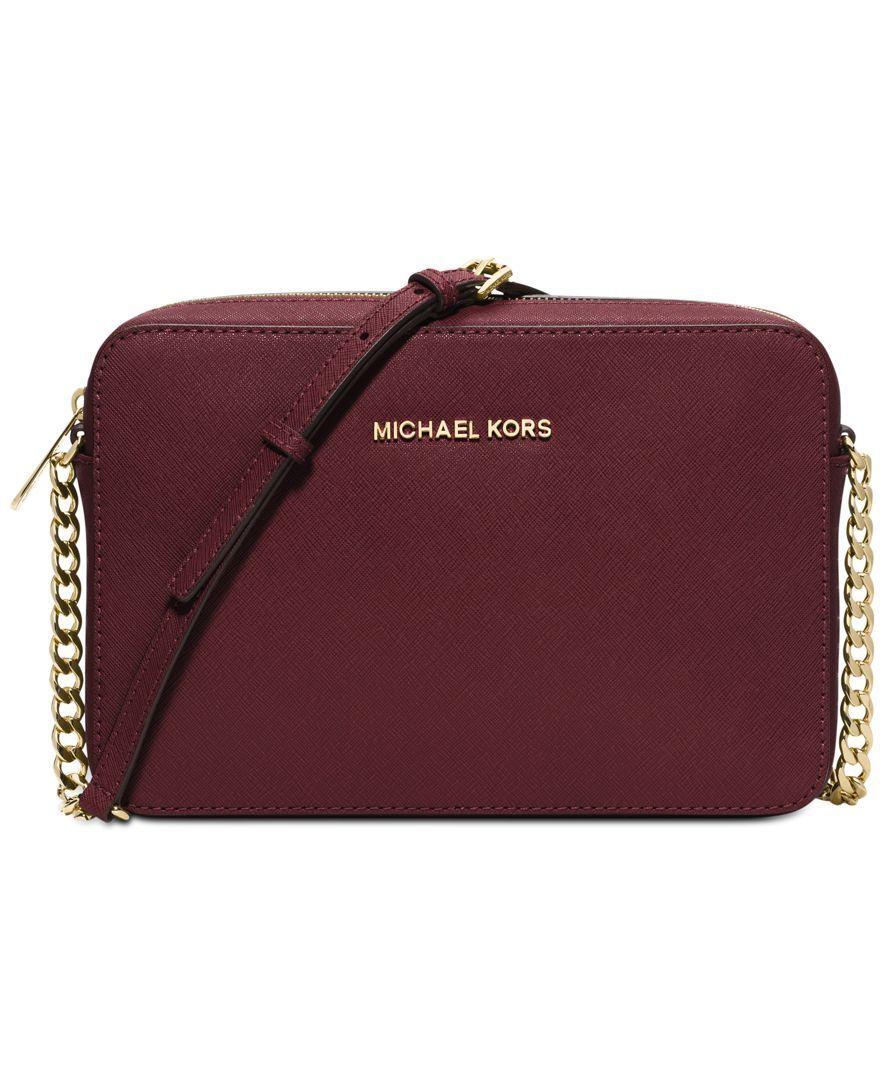 b0bb6761ed2648 MICHAEL Michael Kors Jet Set Travel Large Crossbody - Crossbody Messenger  Bags - Handbags Accessories - Macys