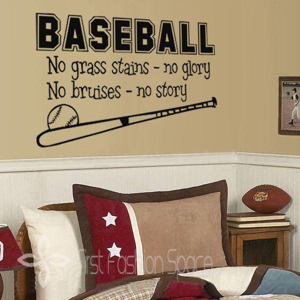 Env o gratis de b isbol deportes de pared calcoman a ni os for Calcomanias para dormitorios