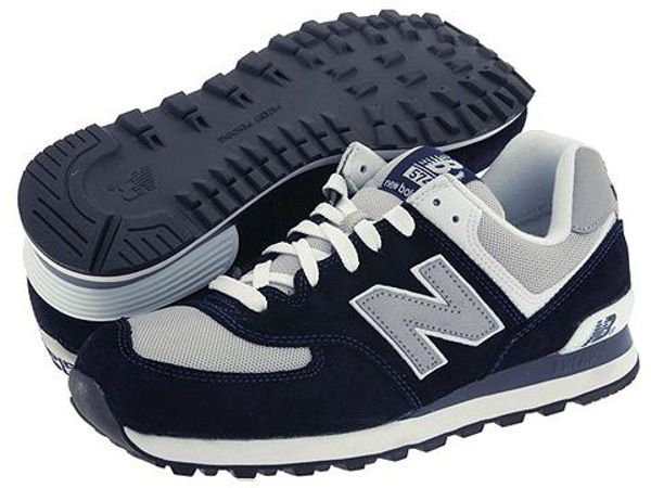 new balance 574 navy blue and white