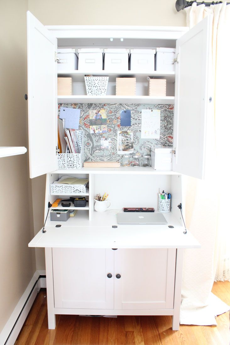 DIY Secretary Desk For A Small Space