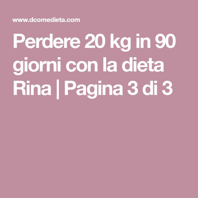 dieta 20 chili in 3 mesi