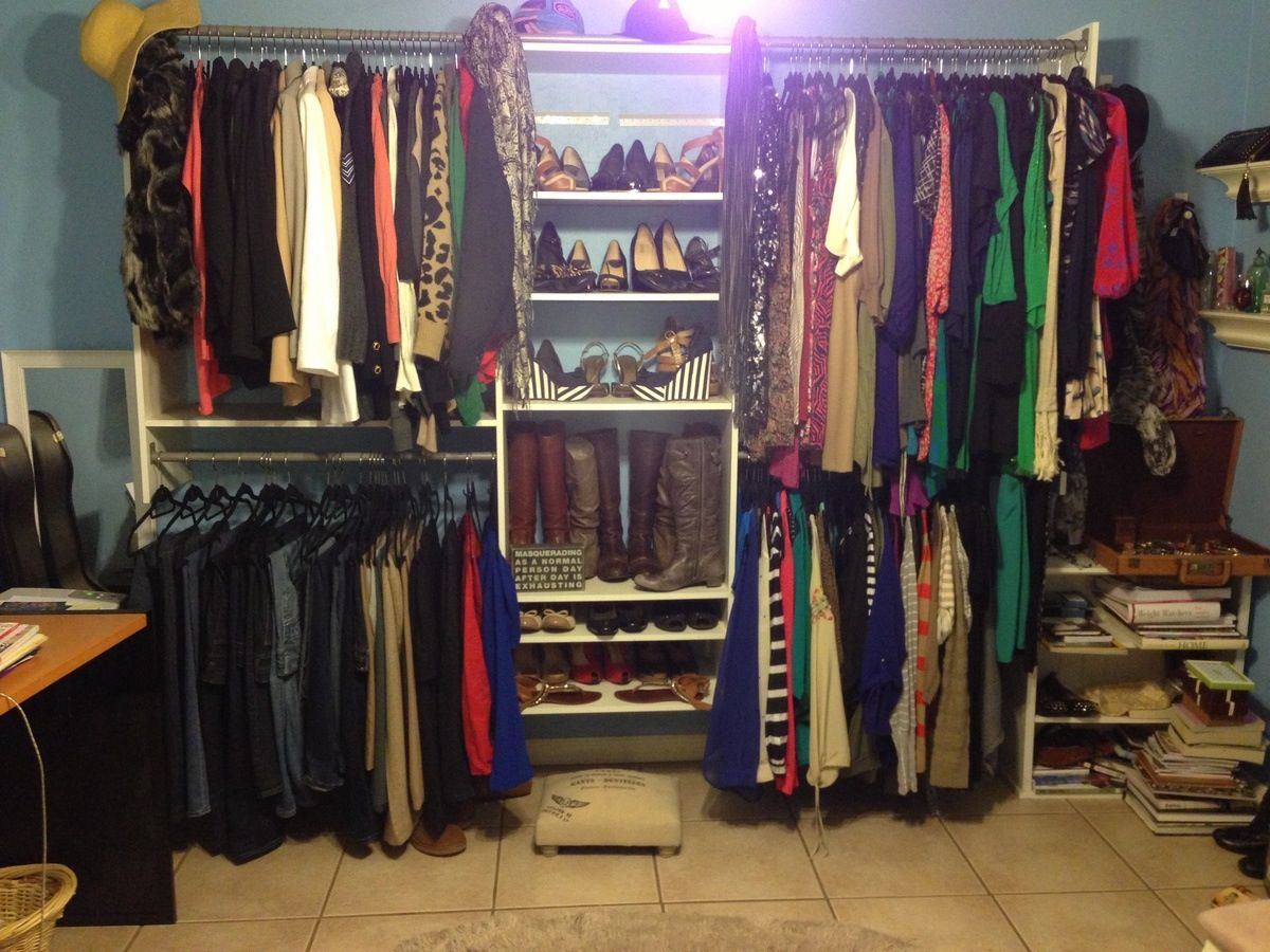 Turned my spare room into a closet ) Bedroom turned