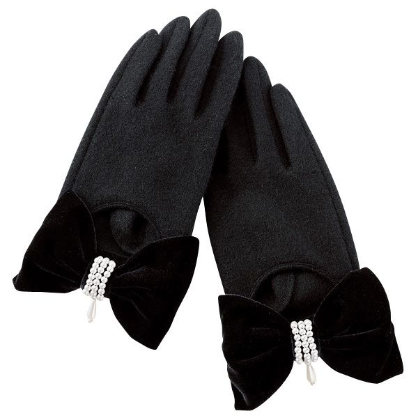 Japanese Online Shop - [IMAGE] Gloves w/Bows / Winter 2012 New Item, Ladies: JSHOPPERS.com