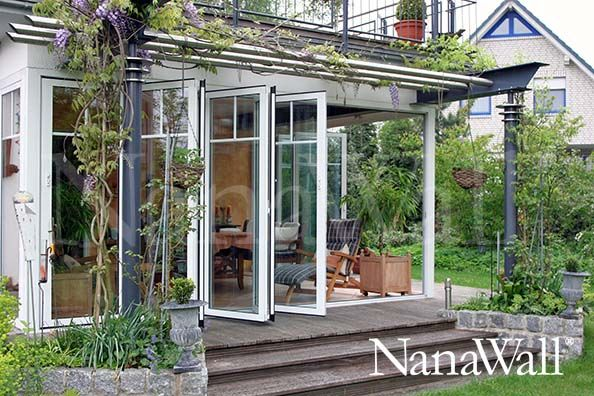 Indoor/outdoor Porch With Glass Patio Enclosures From NanaWall.