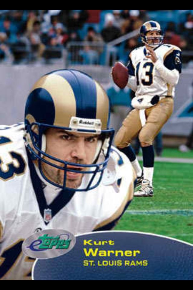 St Louis Rams Kurt Warner Qb One Of The Greatest Rams Qb In Rams History Rams Football Nfl Football Pictures Nfl Football Teams