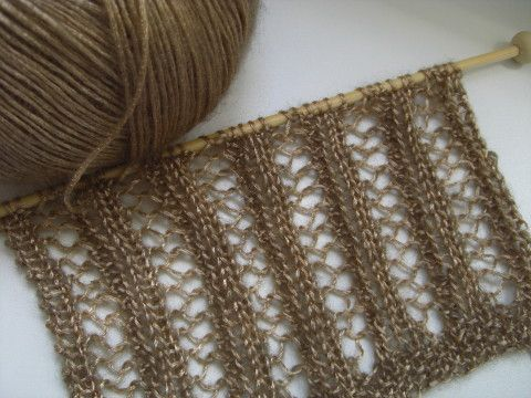 Netzmuster Kostenlose Strickanleitung Pontos De Crochet Pinte