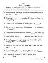 Silent Letters Worksheet by dijobaker | Teachers Pay Teachers