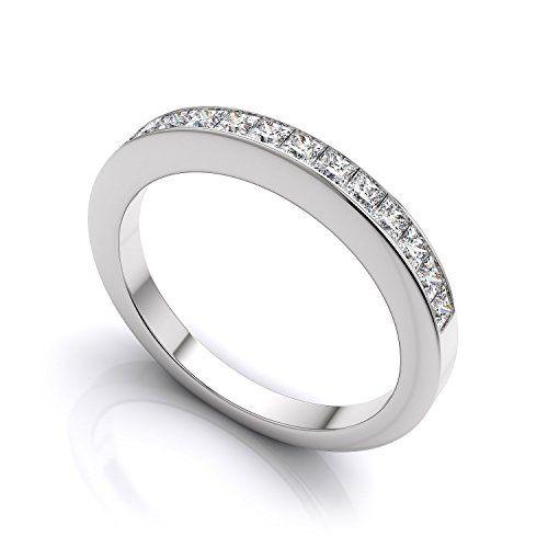 0 50 Carat Princess Cut Diamond Half Eternity Wedding Ban s