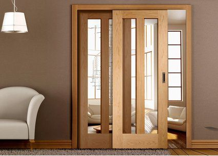 Internal glazed easislides doors xl joinery directdoors2g 425 easi slide oak novara sliding door system in three size widths with clear glass planetlyrics Gallery