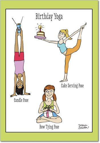 Birthday Yoga Humor Greeting Card NobleWorks Amazon