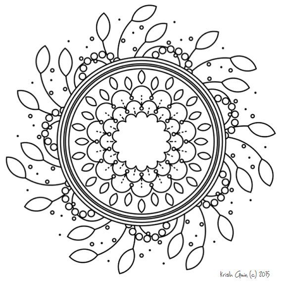 Intricate Mandala Coloring Pages Leaf Spring Coloring Book Art By Krish Nature Doodle Color Dots Mandala Coloring Mandala Coloring Pages Coloring Pages