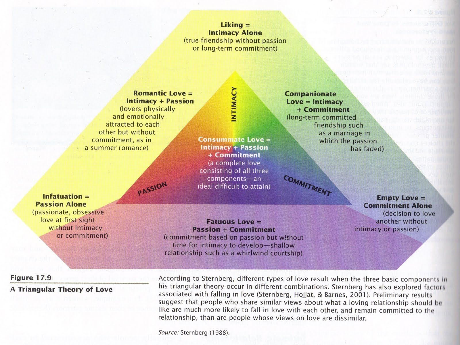 essay on triangular theory of love Theories of love essay sternberg (1986) presents a triangular theory of love, consisting of three components that define love: commitment, passion and intimacy a successful relationship - entitled 'consumate love' - consists of all three of these components.