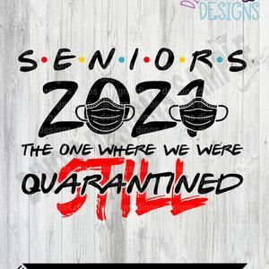Seniors 2021 Virtual Cutting File INSTANT DOWNLOAD