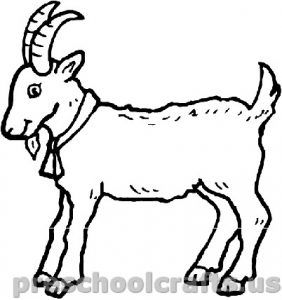 printable goat coloring pages for kids