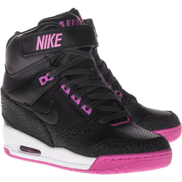 Nike Air Revolution Sky Hi Pink Leather wedge sneakers by