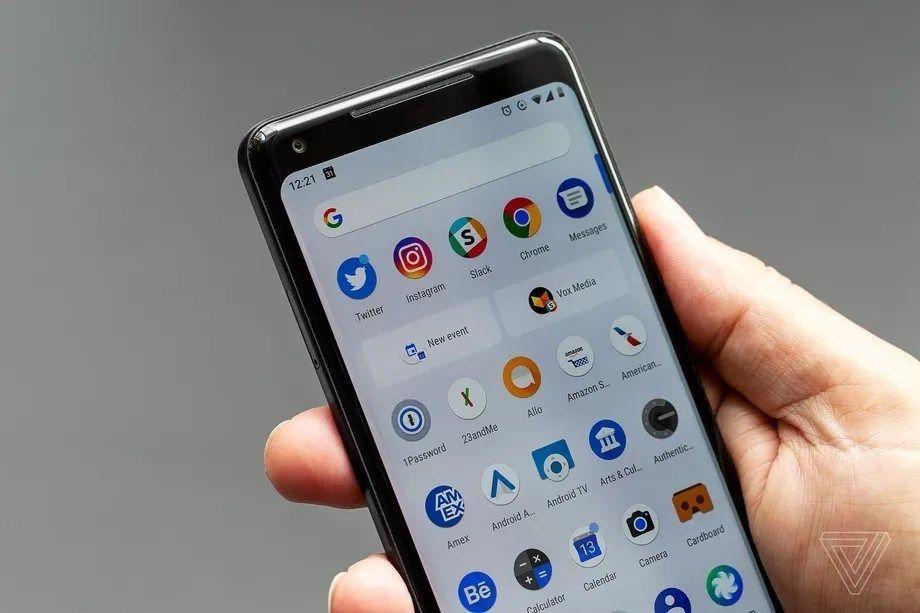 البحث عن إعدادات الهاتف أصبح سهلا على أندرويد P Party Apps Samsung Galaxy Phone Homescreen