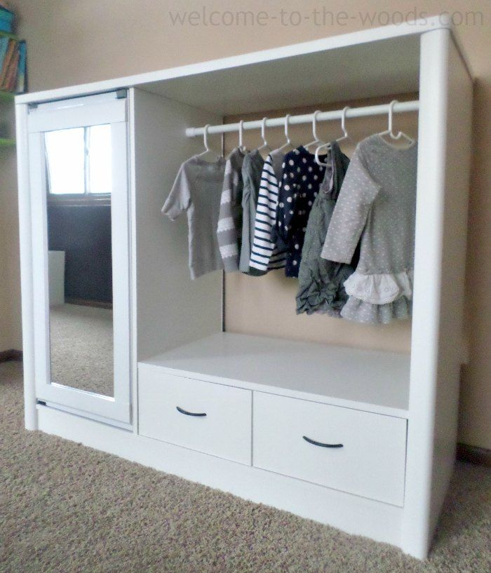 Exceptionnel Entertainment Center Turned Kids Closet Armoire Furniture Makeover