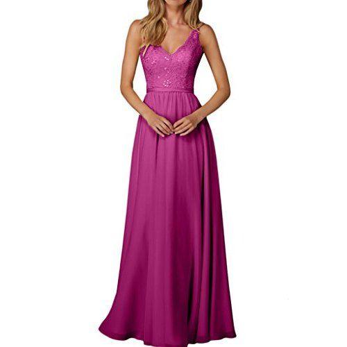 Carnivalprom Damen Chiffon Abendkleider Lange Elegant ...