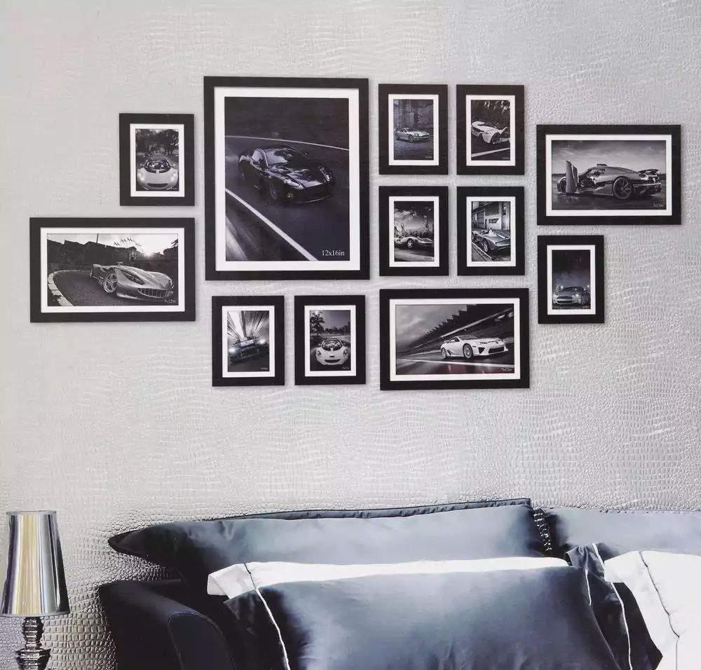 photo frame collage on wall ideas google search photo frame collage pinterest photo. Black Bedroom Furniture Sets. Home Design Ideas