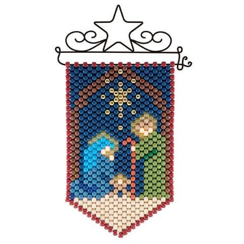 NATIVITY THREE KINGS BEADED BANNER PDF PATTERN ONLY