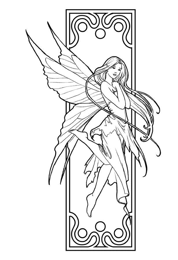 realistic fairies coloring pages | Right here you'll find a lot of totally free Beautiful ...