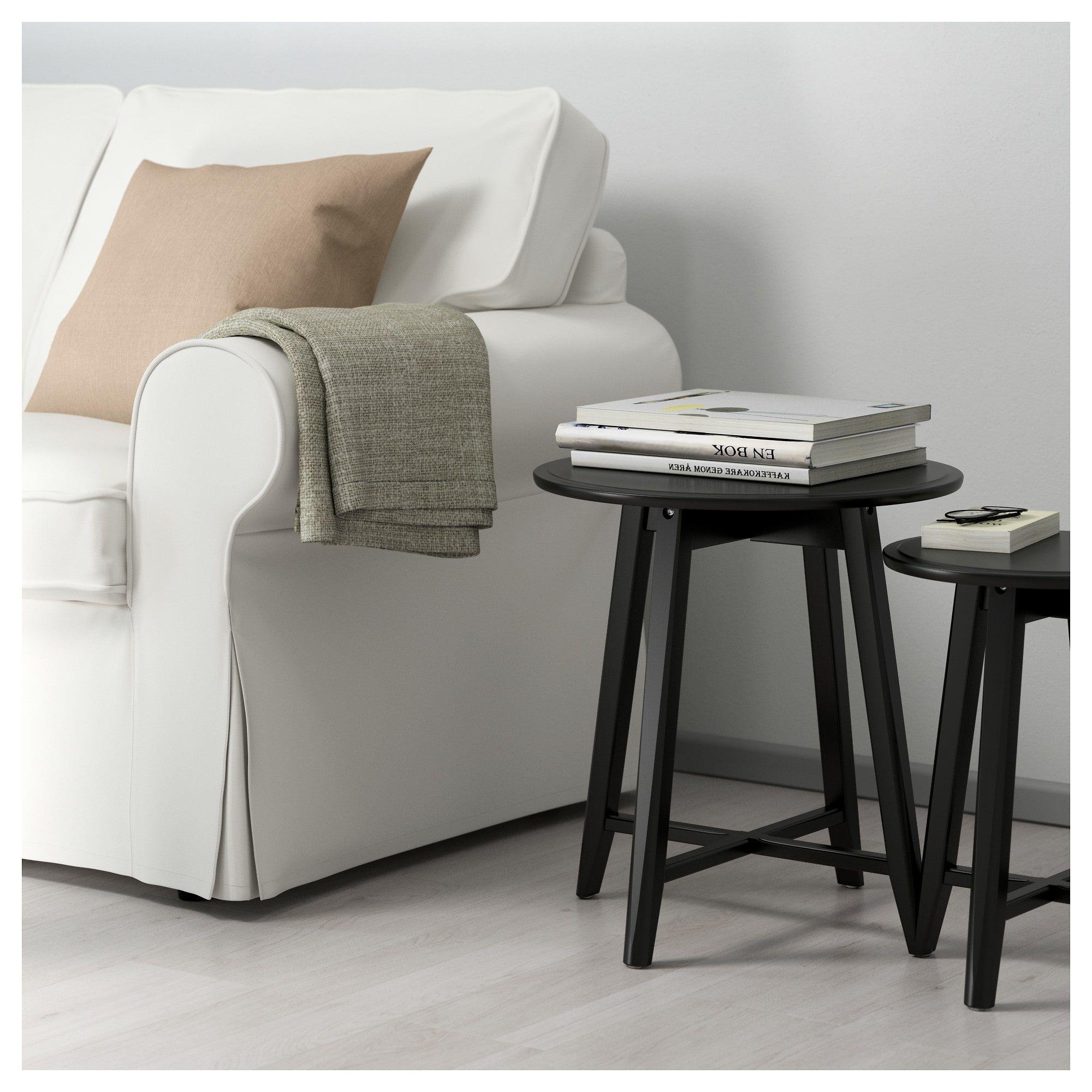 KRAGSTA Nesting tables, set of 2, black - IKEA | Nesting ...