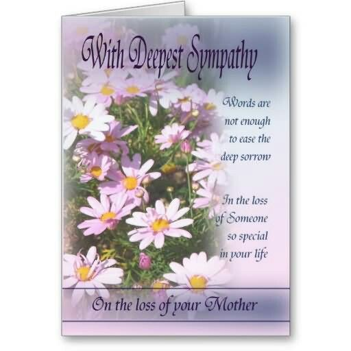 Pin by deb miller on condolences pinterest condolences shop loss of mother with deepest sympathy card created by marionscards m4hsunfo
