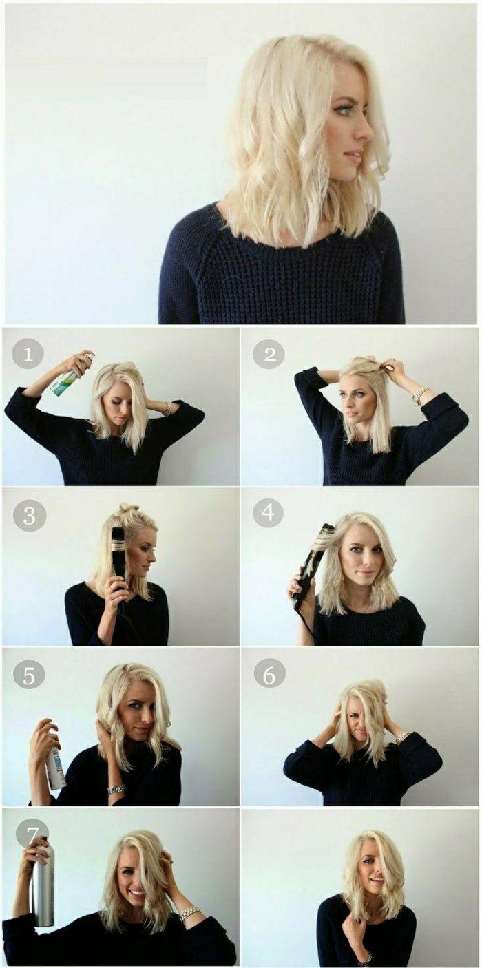 Coiffure facile a faire cheveux boucles