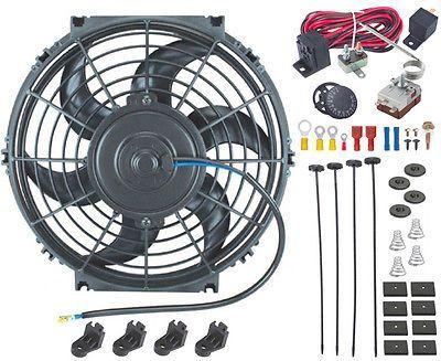 10 Inch Radiator Electric Fan Adjustable Thermostat Probe Sensor