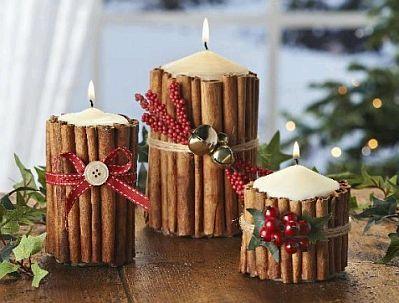 Velas de navidad Navidad Pinterest Velas de navidad, Velas y