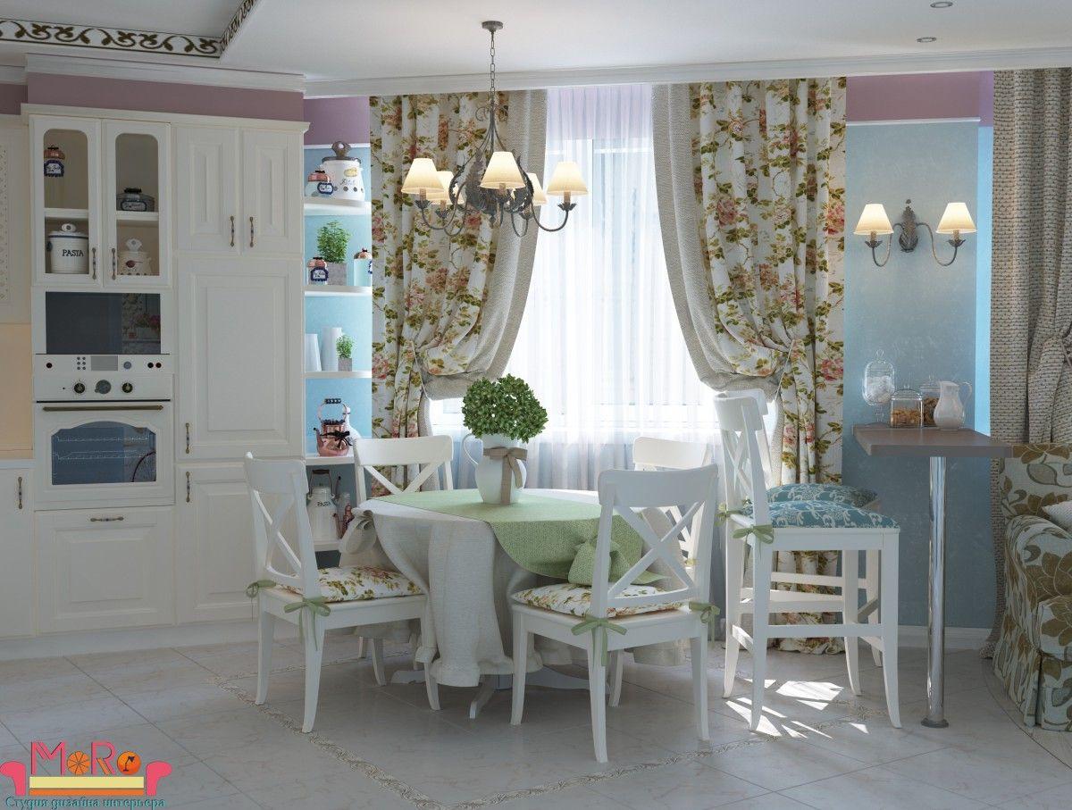 Кухня-гостиная в стиле прованс | Идеи домашнего декора ...