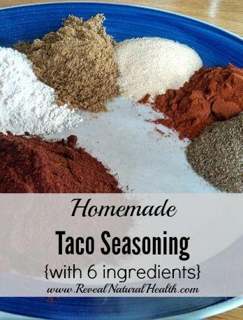Taco seasoning ingredients vertical pin
