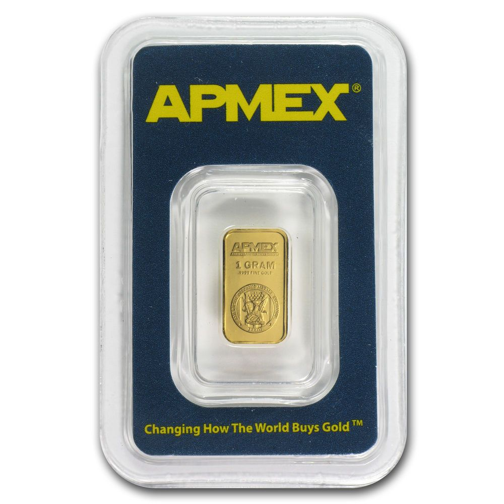 1 Gram Gold Bar Apmex In Tep Package Sku 63288 Ebay Apmex Gold Bar Gold Bars For Sale