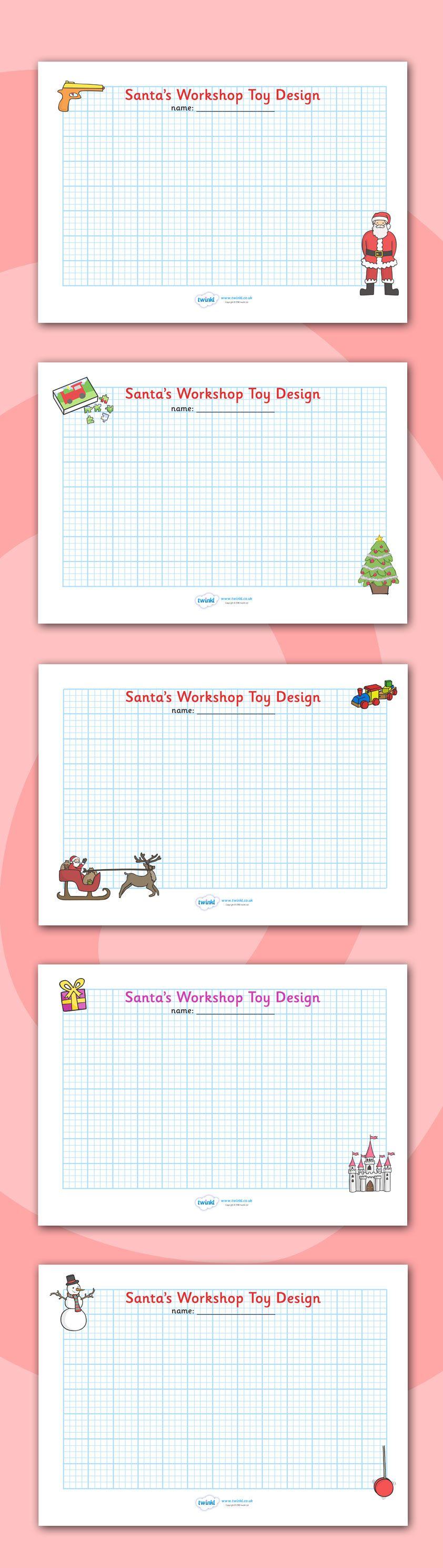 Christmas colouring in sheets twinkl - Twinkl Resources Christmas Toy Design Sheets