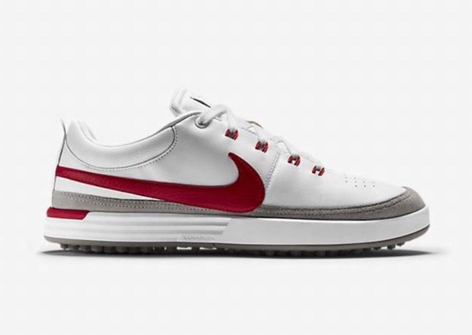 purchase cheap fab52 d67dc Nike Lunar Waverly Golf Shoes 652780-100 White Action Red Size 9.5 Med  Nike   GolfShoes