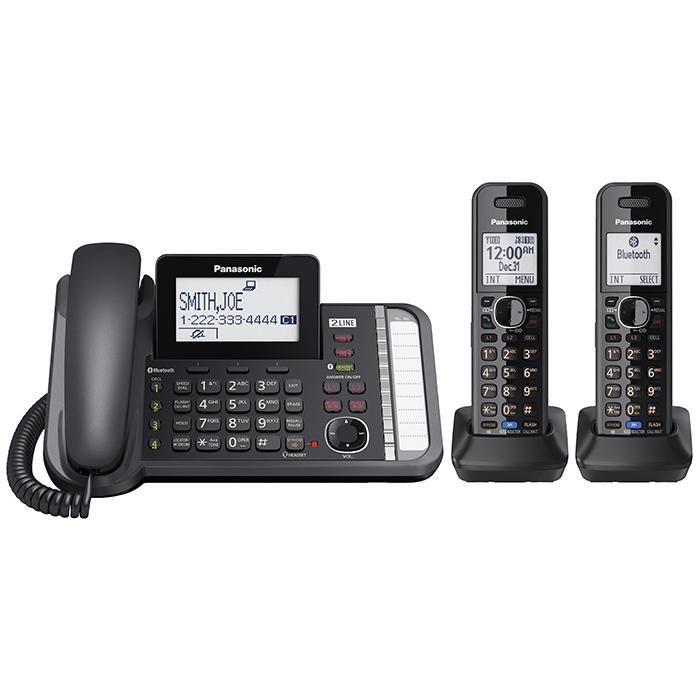 Panasonic KX-TG9541B 2-Line DECT 6.0 Expandable Cordless Phone System