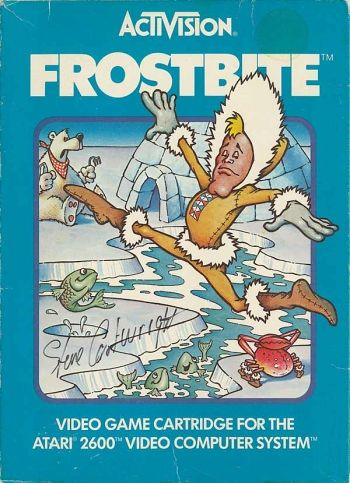 Frostbite Atari 2600....yes I know, I go waay back.  I would play this game for hours on end and of course its one of those games that does not have an ending.  Great memories!