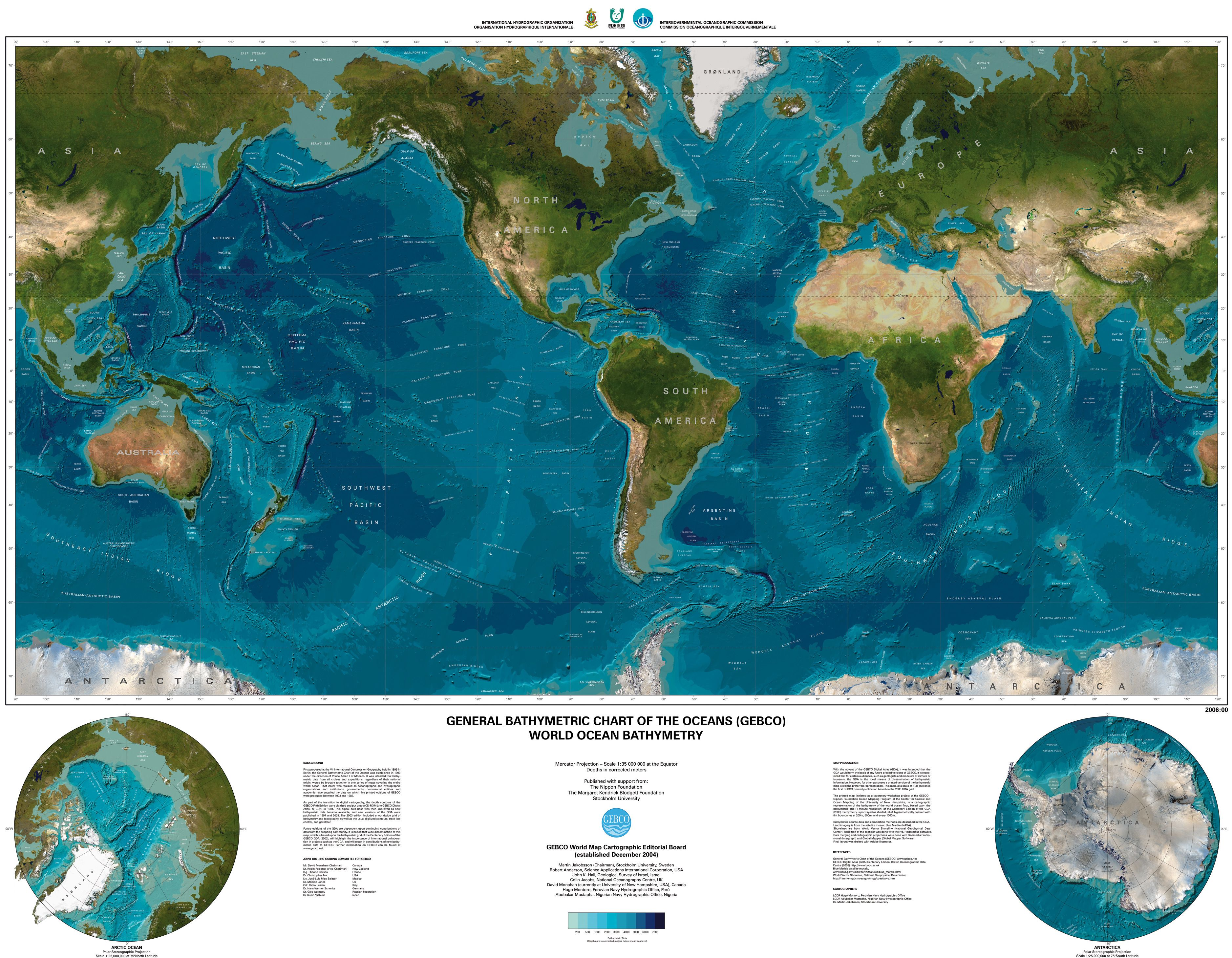 The General Bathymetric Chart Of The Oceans Gebco