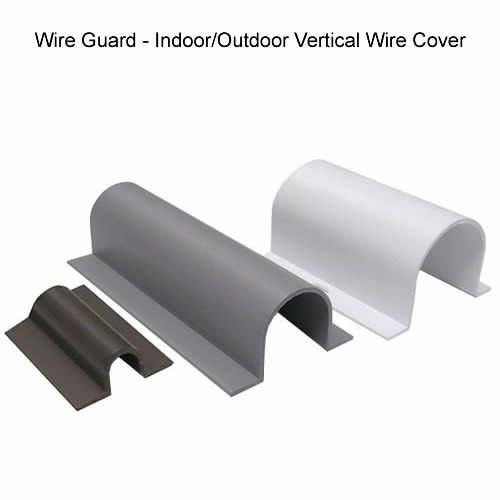 wire guard indoor outdoor cable covers need these for outside the house home improvement. Black Bedroom Furniture Sets. Home Design Ideas