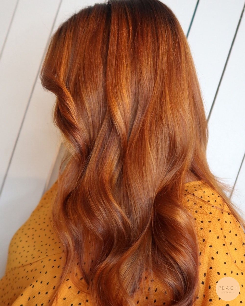 ljus koppar hårfärg