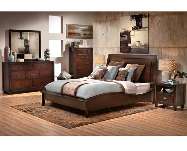 Beds-Malibu Sleigh Bed-Add mid-century flair | Bedroom ...