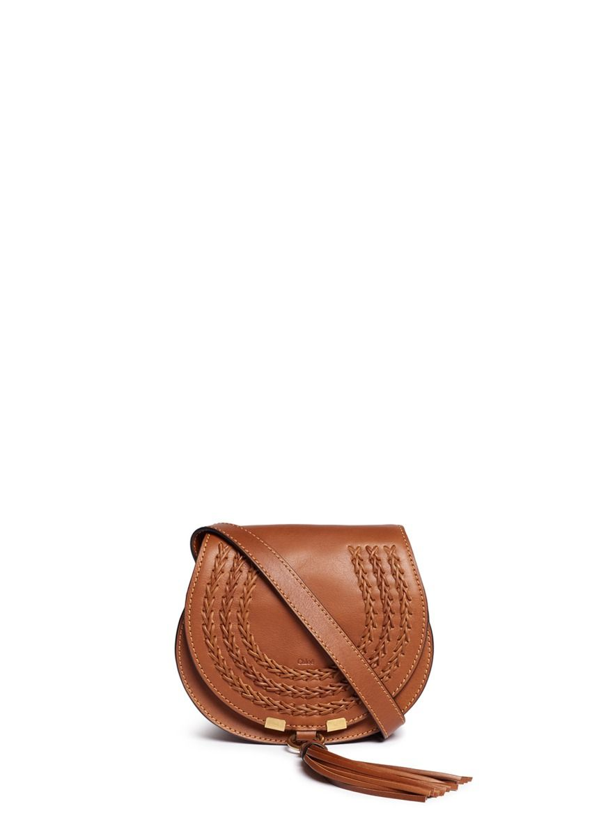 cff3c4a5c701e CHLOÉ 'Marcie' Mini Tassel Braided Leather Saddle Bag. #chloé #bags #shoulder  bags #lining #suede #